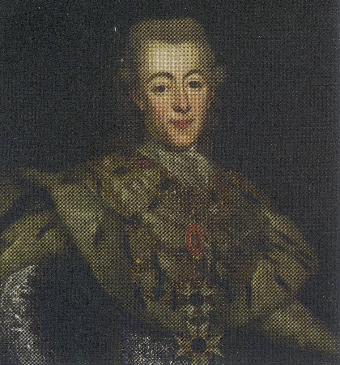 Портрет шведского короля Густава III.