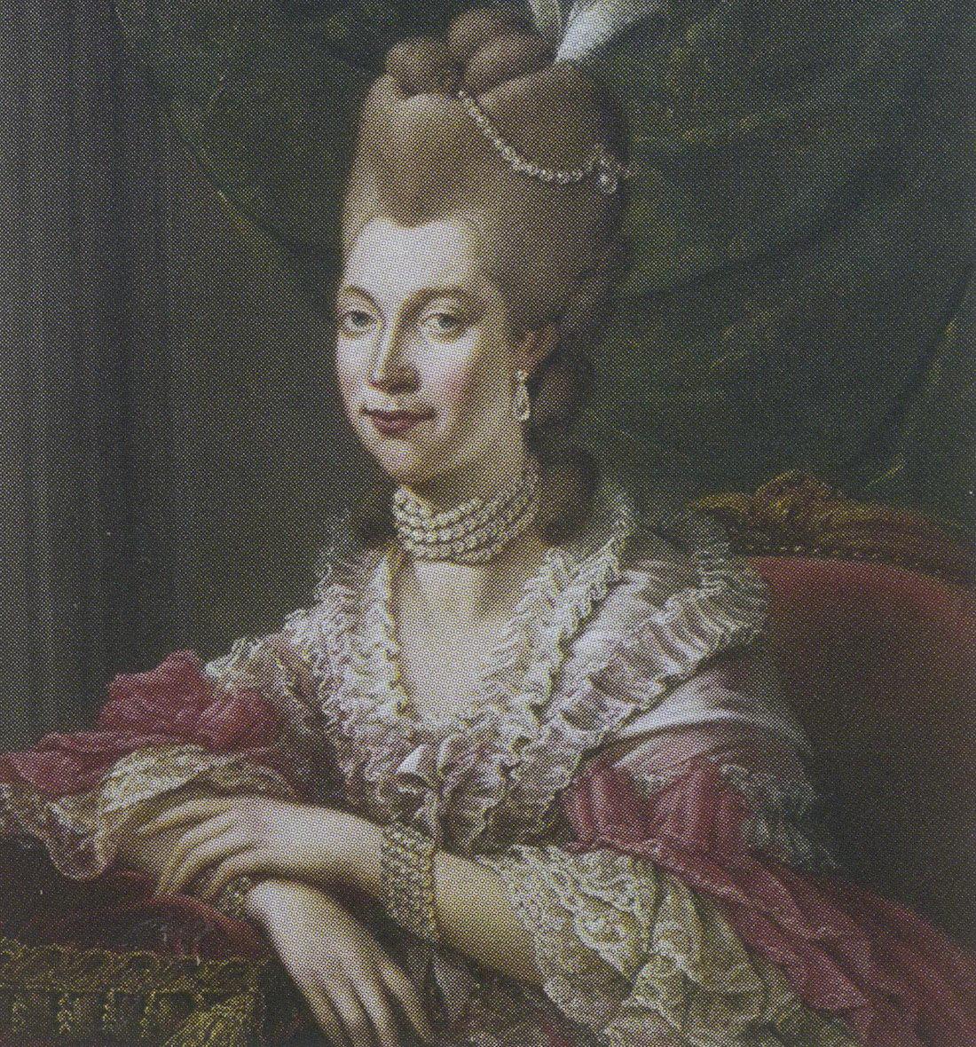 Портрет английской королевы Софии Шарлотты