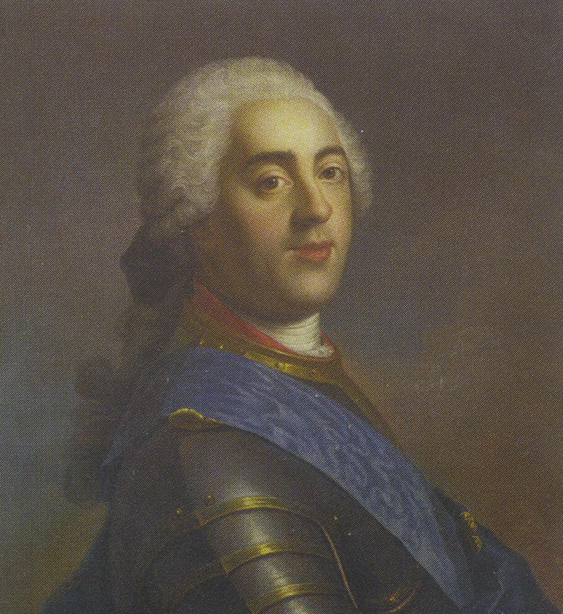 Портрет французского короля Людовика XV из династии Бурбонов