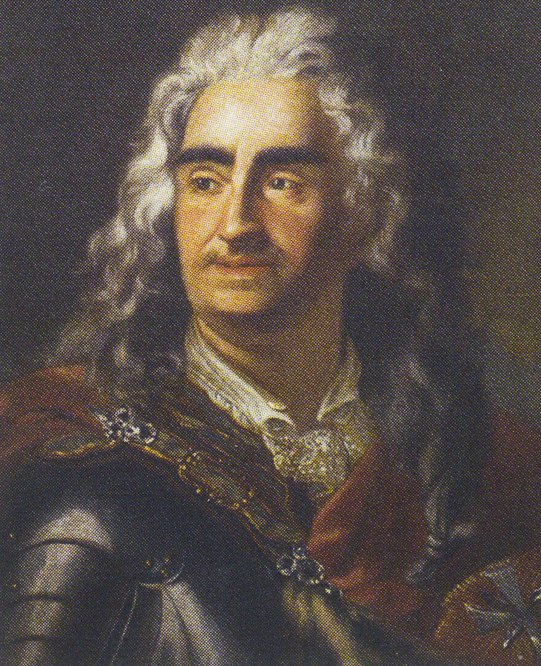 Портрет польского короля Августа II