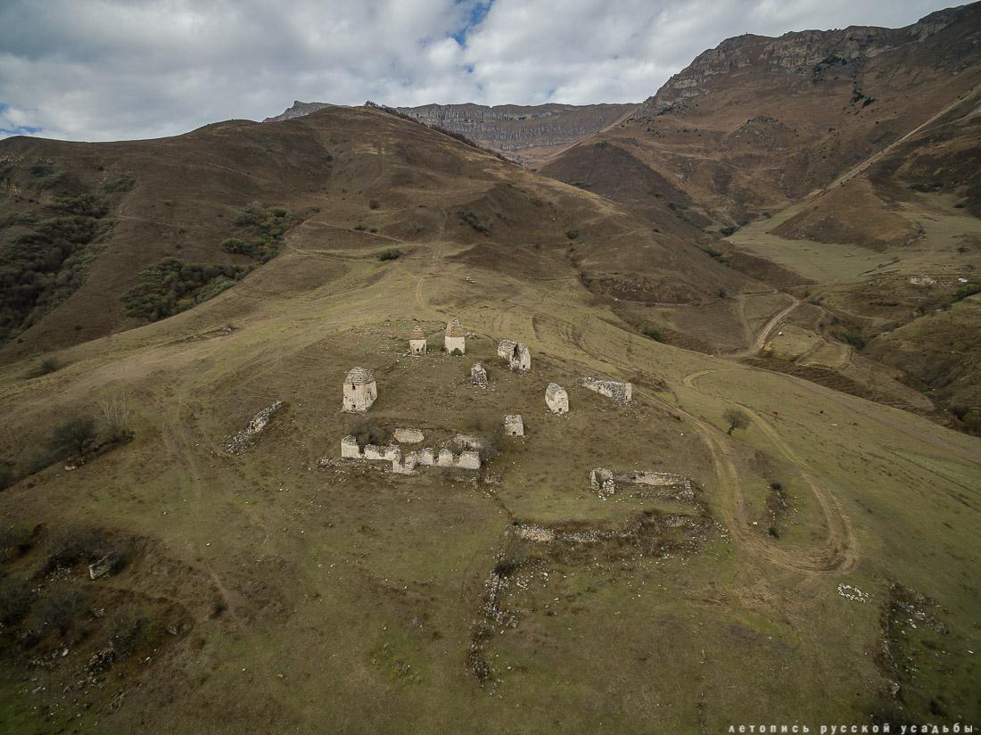 Башенный комплекс Фалхан, Ингушетия, Джейрахский район с квадрокоптера