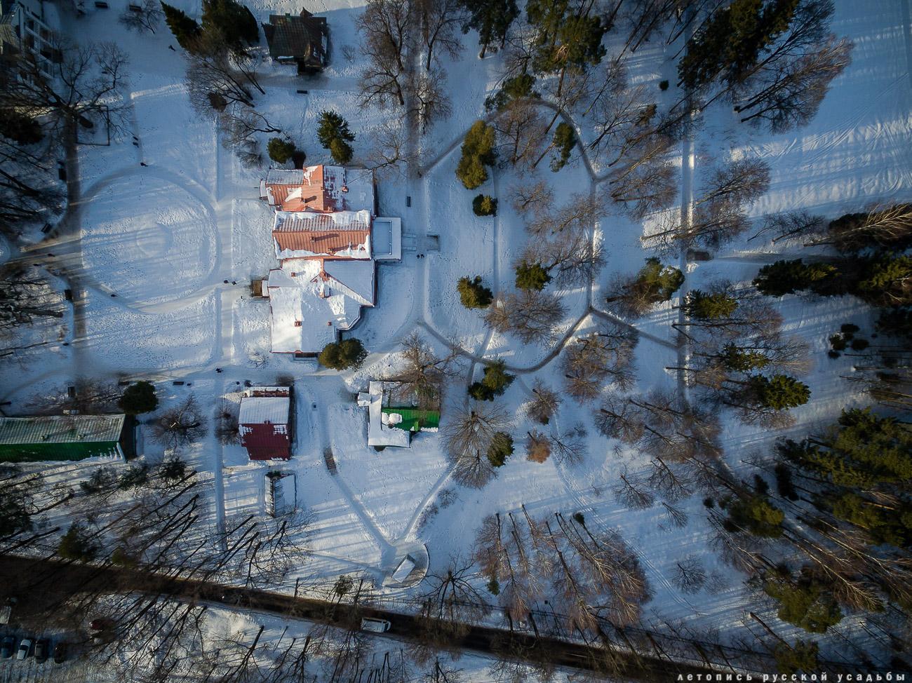 усадьба Абрамцево с квадрокоптера, дрона