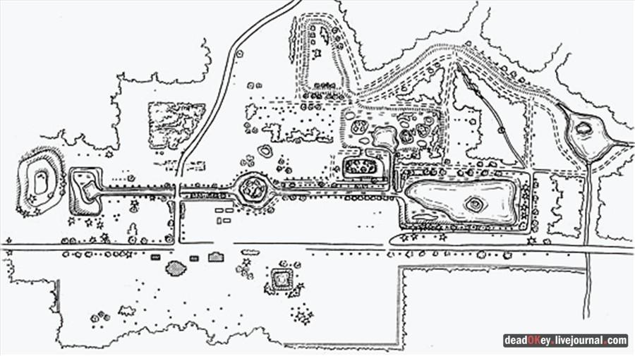 План регулярного парка в