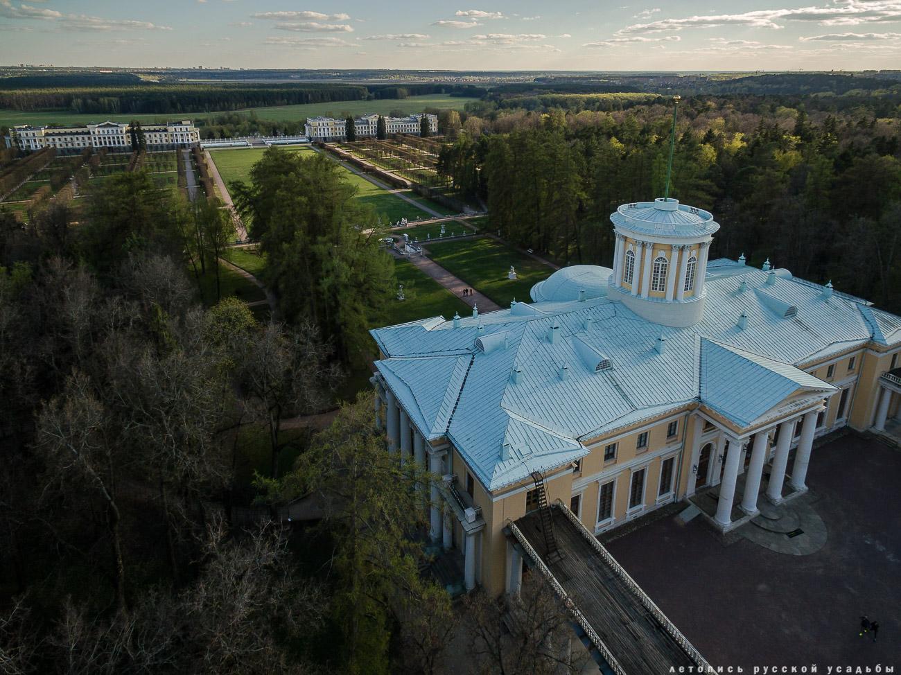 усадьба Архангельское с квадрокоптера (аэросъемка с дрона)