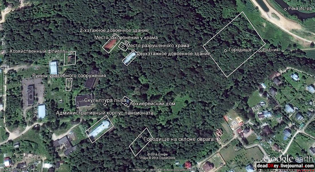 Схема объектов Ильинского