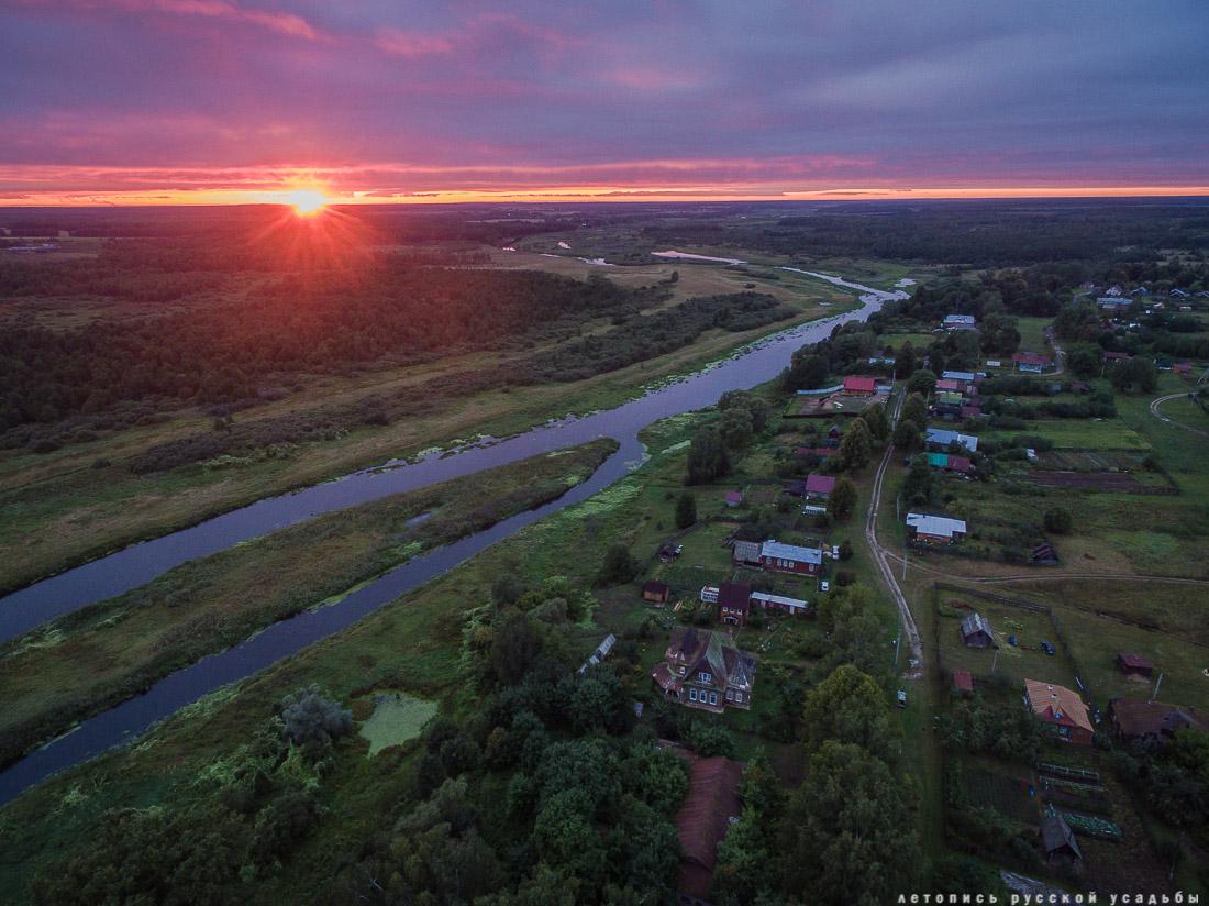 усадьба Меховицы с квадрокоптера, Ивановская область, продается усадьба, дом
