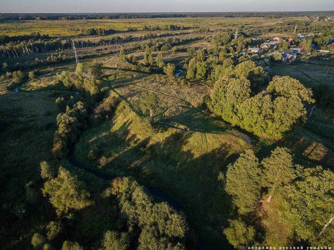 Могутовское городище, Шерна-городок, Могутово, фото с квадрокоптера