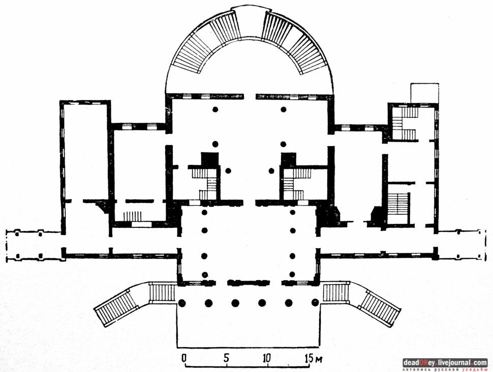 План первого этажа главного
