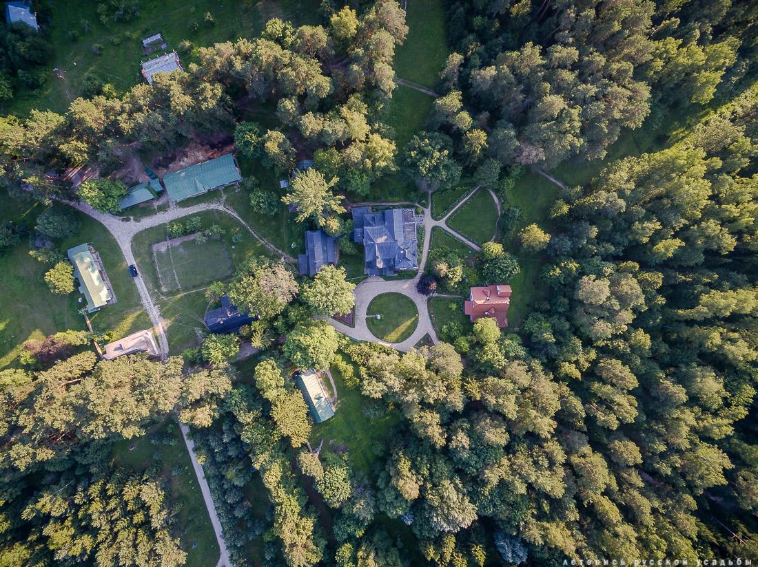 усадьба Поленово с дрона и квадрокоптера, аэрофотосъемка