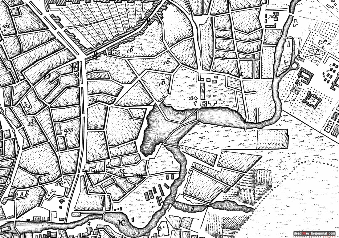 карта, Немецкая слобода, Басманный район, Москва, Яуза, усадьба Разумовского на Гороховом поле (г. Москва, ул. Казакова, д.18)