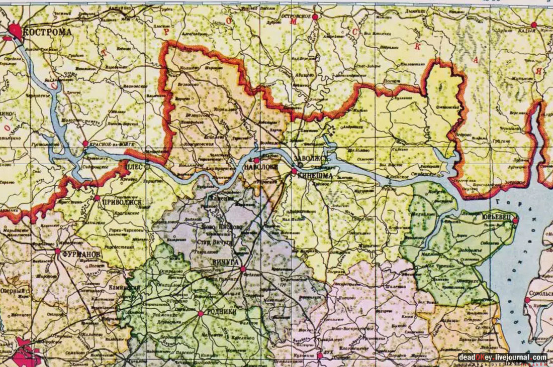 Старые Карты Ивановской Области