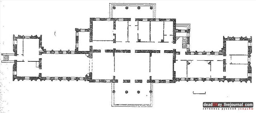 Схема главного дома усадьбы.